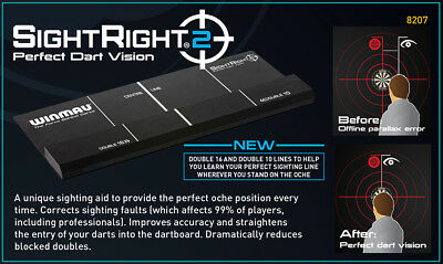 Winmau Dart Board Sight Right 2 position exactly on oche perfect sighting Tool