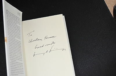 HENRY KISSINGER signed  Autogramm In Person Buch signiert