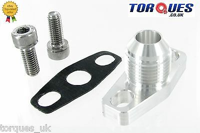 AN-10 10AN  GT / T25 / T28 Garrett Turbo Billet Oil Return Flange +Bolts+Gasket