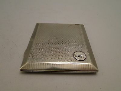 Cigarette Case Sterling Silver Art Deco Engine Turn, Birmingham 1924