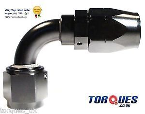 "AN -10 (10AN AN10) 90 Degree To 1/2"" BSP Female Swivel Seal Hose Fitting Black"