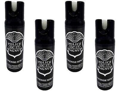 4 pack Police Magnum 4oz pepper spray GID Safety Lock Self Defense Protection