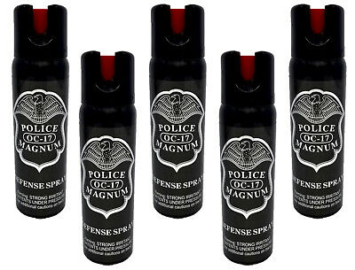 5 pack Police Magnum 4oz pepper spray Safety Lock Defense Security Protection