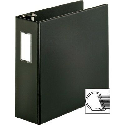 "Vinyl D-Ring Binder, 4""Capacity, 8-1/2""x11"", Black SPR07801"