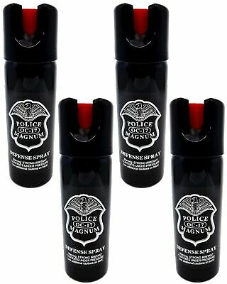 4 pack POLICE MAGNUM 3oz Safety Lock pepper spray Defense Security Protection