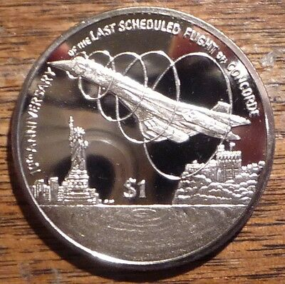 "British Virgin Islands 2013 ""Concorde"" $1 Coin"