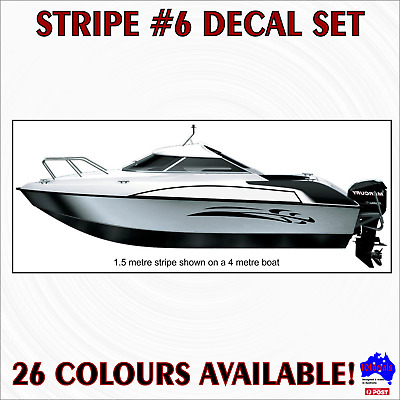 2x1m STRIPE #6 marine grade waterproof decals sticker.Car,caravan,motorhome,boat