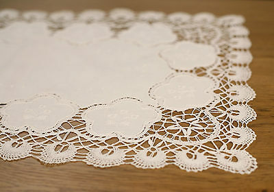 Lace Table Runner /'Mannum Hill/' White 88cms Home Decor Hand Made Gift NEW