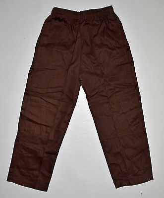 NEW school uniform trousers double knee pants Brown size 5 to 16