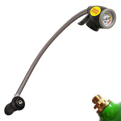 Air Conditioning Recharge Filling Hose With Gauge Reusable Air con Trigger