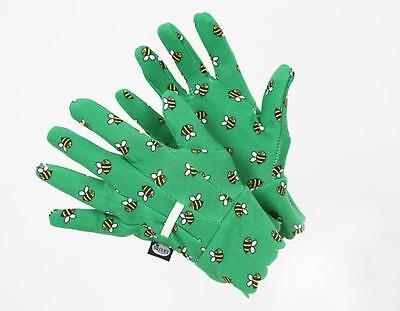 Briers Bumble Bee Water Resistant Gardening Gloves one size women's green