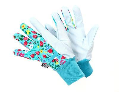 Briers Strawberry Water Resistant Gardening Gloves one size women's blue