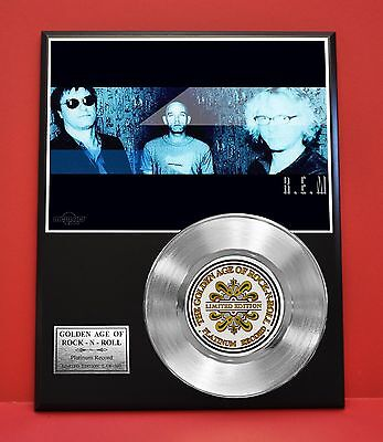R.e.m. Platinum Record Limited Edition Music Award Display