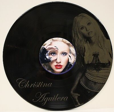 Christina Aguilera Black Vinyl Lp Etched W/ Artist's  Image Limited Edition