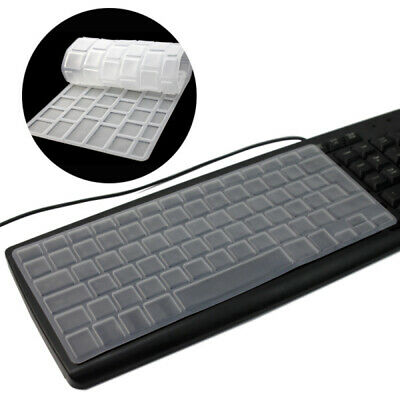 Clear Silicone Keyboard Cover Skin for Apple Macbook Mac Pro Air 13 15 17 UK EU