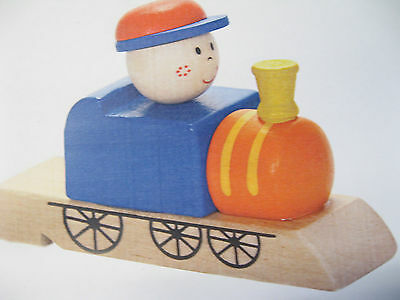 Wooden Train Whistle -  Boy  Locomotive Engine - Cute Decor Or Real Play