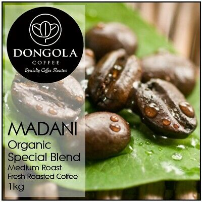 1KG DONGOLA MADANI Organic Fresh Roasted Coffee Beans Special Blend Bean Ground • AUD 39.95