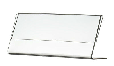 """Name Plate 6""""w x 2""""h Clear Standing Acrylic Table Tent for Desk Top"""