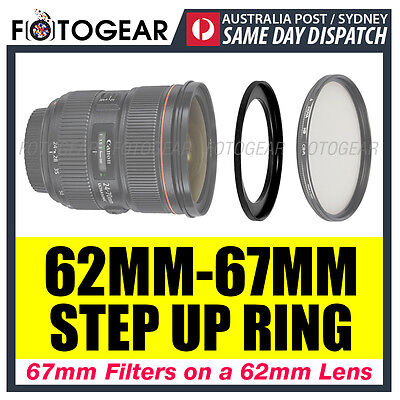Step Up Ring 62-67mm Filter Lens Adapter 62mm-67mm AUSPOST