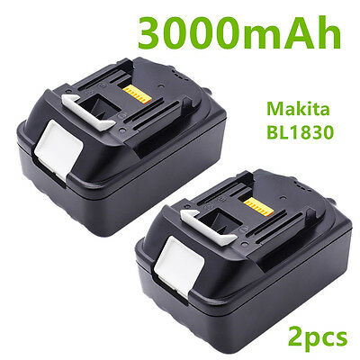 2X MAKITA 18V 3.0Ah LITHIUM ION REPLACE BATTERY BL1830 NEW UK LATEST TWIN PACKS
