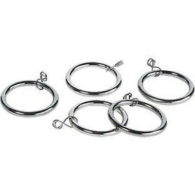 10 x Metal Curtain Rings Stainless Steel Use With Pole Upto 32mm
