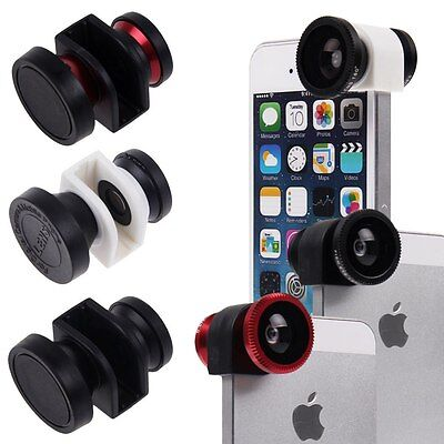 3in1 Fish Eye + Wide Angle + Macro Camera Lens Photo Kit Set for iPhone 5 5s 5G