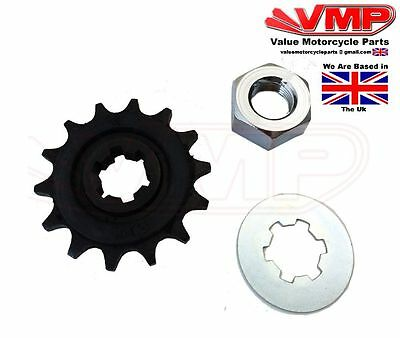 SUPERBYKE RMX125, HYOSUNG RX, XRX 125 Front Sprocket 14T with Retaining Washer