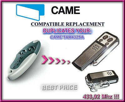 CAME TAM432SA  remote control transmitter replacement for garage gate automation
