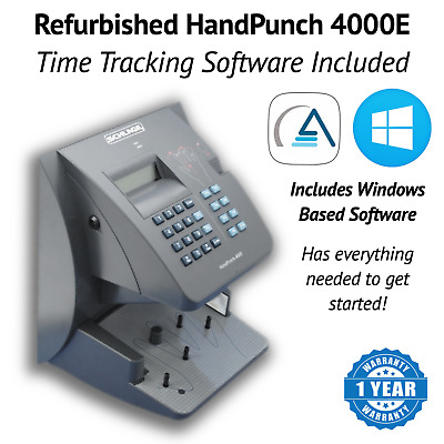 Refurbished HandPunch HP-4000-E with Ethernet   AMG Software Package