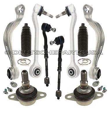Front Control TENSION STRUT Arms + Ball Joints + Tie Rods for BMW E60 Xi Kit 10