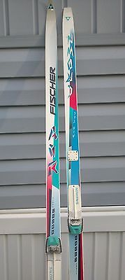 FISCHER Air Tech Crown White / Pink / Blue Cross Country SNS Sz 195 Skis