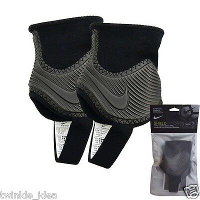 Genuine NIKE Ankle Shield Guard Pads Dual sided SP2096-010 for Soccer Football