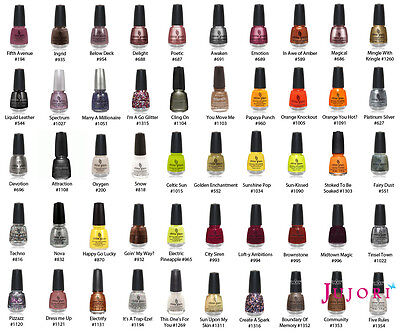 China Glaze Nail Polish - 14 ml - Pick Your Colour - Postage Combined
