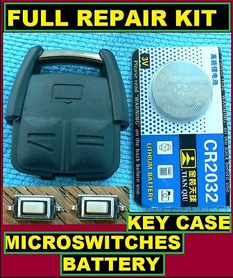 Vauxhall Opel Vectra Zafira 3 button Remote Key Fob Full Repair Kit