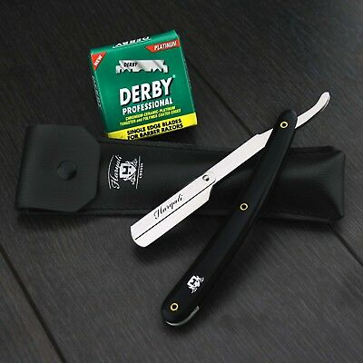 Barber Salon Straight Cut Throat Shaving Razor Shavette Rasoirs Rasoi 100 Blades
