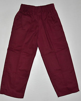 NEW school uniform trousers double knee pants Maroon size 5 to 16