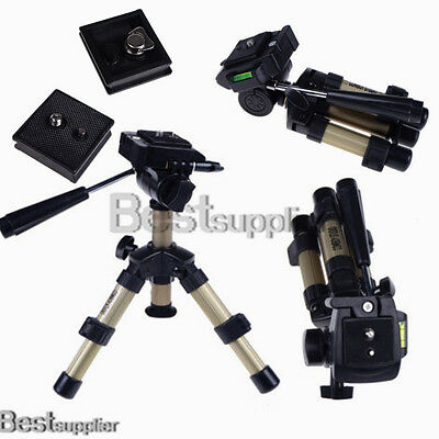 Photo Compact Lightweight Mini Tripod Stand For Digital Camera Fluid Pan Head