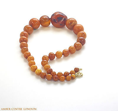Antique Victorian Handmade German Baltic Amber Necklace A0068 RRP£2950!!!