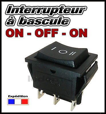 interrupteur 3 positions 3 pins va et vient 220v 6a 12v 24v 10a 21x15mm. Black Bedroom Furniture Sets. Home Design Ideas