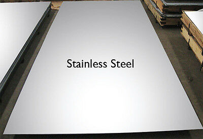 6mm 316 Stainless Steel sheet plate, any size custom cut free