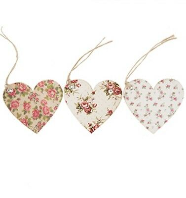 Sass & Belle 15 Vintage Pink & Cream Rose Heart Gift Tags/Labels 3 Designs 7x7cm