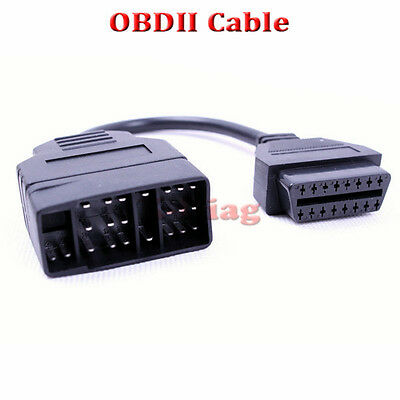 22Pin To 16Pin OBD1 To OBD2 OBDII Connector Adapter Tool For TOYOTA Interface