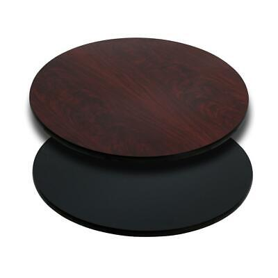 Flash Furniture 30'' Round Table Top with Black or Mahogany Reversible...