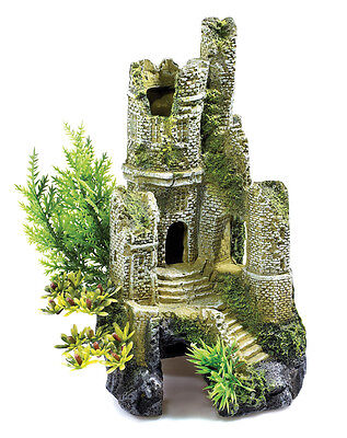 Old Castle Ruins 30 Ltr Biorb Aquarium Ornament Fish Tank Cave Decoration