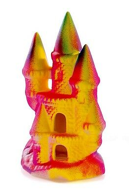 Funky Fluorescent Castle Aquarium Goldfish Bowl Decoration Fish Tank Ornament