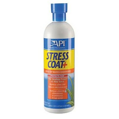 API Stress Coat Fish Aquarium Water Treatment Makes Tap Water Safe - 473ml