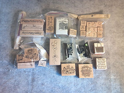 Close to My Heart Rubber Stamps Set Lot of 28 pcs Art & Craft Scrap Booking AC02