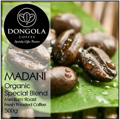 500g DONGOLA MADANI Organic Fresh Roasted Coffee Beans Special Blend Bean Ground