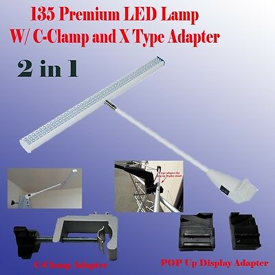 135 LED Display Light Booth Panel Pop Up Trade Show w/ Clamp Las Vegas Approved