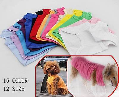 Dog Clothes Summer Small Large Big Pet Clothing Blank T-shirts Tanks Top Vests